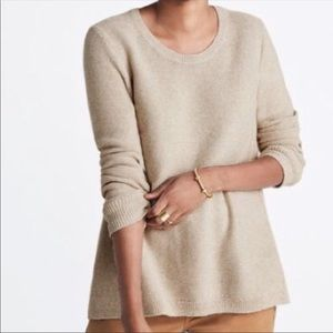 Madewell Oatmeal Riverside Textured Sweater Sz XS